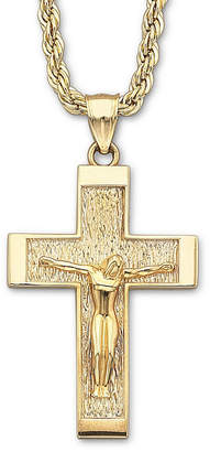 JCPenney FINE JEWELRY 18K Gold Over Silver Crucifix Pendant Necklace