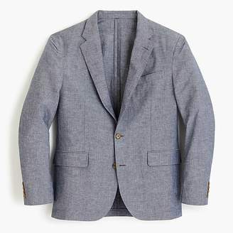 J.Crew Ludlow Classic-fit unstructured suit jacket in cotton-linen