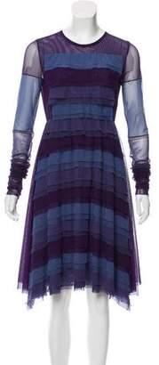 Amelia Toro Long Sleeve Mesh Dress