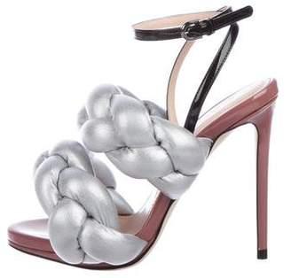 Marco De Vincenzo Braided Metallic Sandals w/ Tags