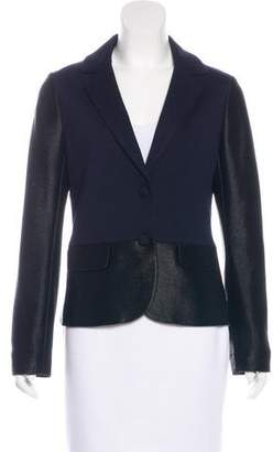 Tory Burch Notch-Lapel Button-Up Blazer