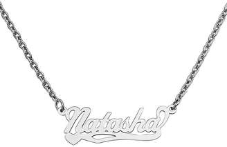 FINE JEWELRY Personalized 10x31mm Heart Scroll Name Necklace