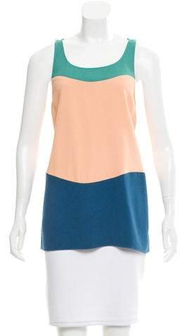 Chanel Sleeveless Colorblock Top