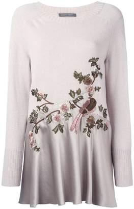 Alberta Ferretti bird embroidered jumper