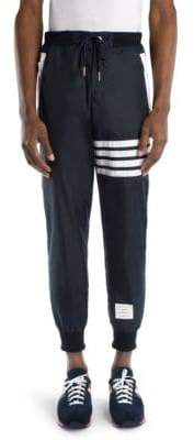 Thom Browne Cashmere-Blend Stripe Sweatpants