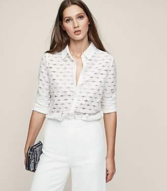 Reiss Simonetta Lace Shirt