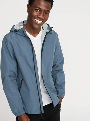 Old Navy Go-H20 Water-Resistant Hooded Rain Jacket for Men