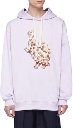 Acne Studios Turtle graphic print hoodie