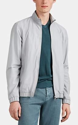 Loro Piana Men's Leather Bomber Jacket - Gray