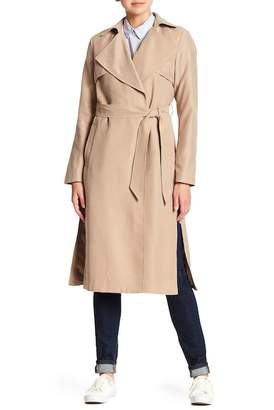 Cole Haan Drapey Belted Trench Coat