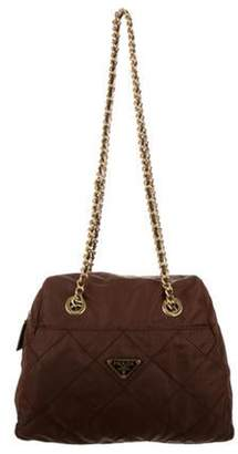 Prada Quilted Nylon Shoulder Bag Brown Quilted Nylon Shoulder Bag