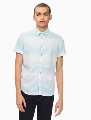 Calvin Klein slub chambray short sleeve shirt