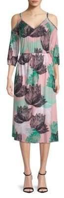 Rachel Pally Ariana Floral Cold-Shoulder Midi Dress