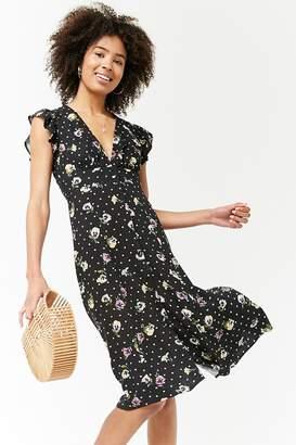 Forever 21 Floral Plunging Dress