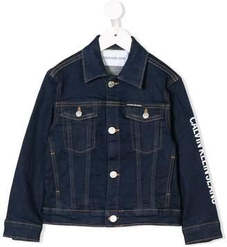Calvin Klein Kids stitching detail denim jacket