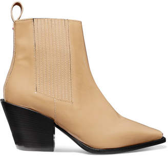 BEIGE aeydē - Kate Patent-leather Ankle Boots