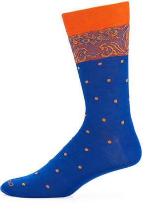 Etro Men's Dotted Cotton Socks