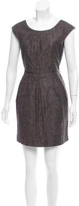 Alice + Olivia Linen Crepe Dress