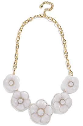 BaubleBar Madelaina Resin Flower Necklace