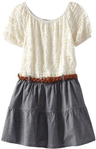 My Michelle Girls 7-16 Peasant Dress
