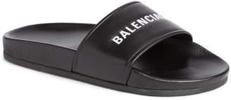 Balenciaga Logo Slide Sandal