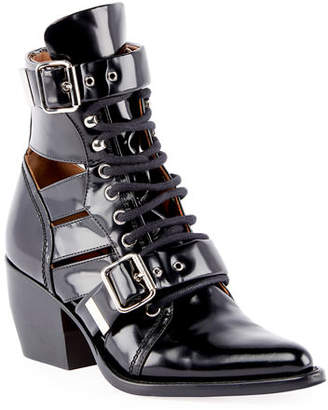 Chloé Rylee Lace-Up Box Calf Boot