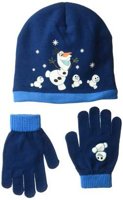 Disney Men's Frozen Olaf Knitted Winter Beanie Hat and Glove Set