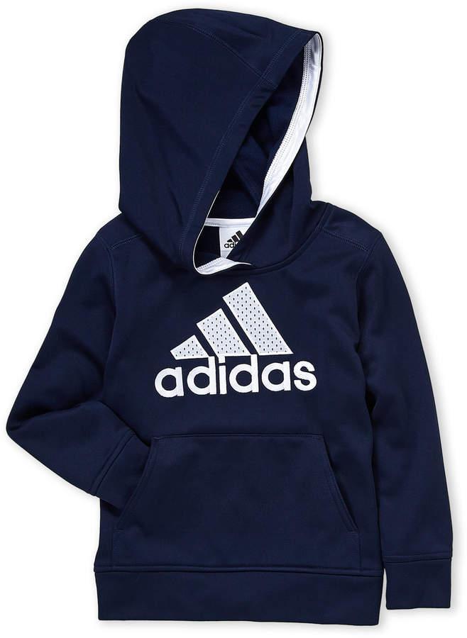 Adidas (Boys 4-7) Perforated Logo Hoodie