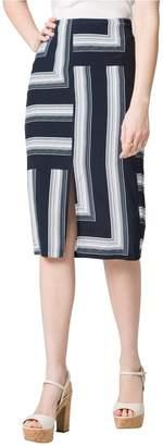 Le Château Women's Stripe Midi Skirt