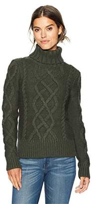 Pendleton Women's Luxe Cable Merino Alpaca Turtleneck Sweater