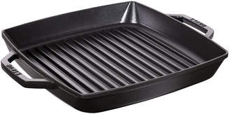 Staub Double Handle Square Grill - 28cm - Black