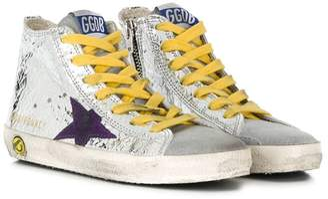 Golden Goose Kids metallic hi-top sneakers