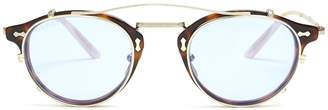 Gucci Detachable-lens round-frame acetate sunglasses