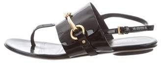 Gucci Patent Leather Slingback Sandals