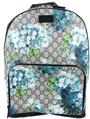 Gucci 2016 GG Supreme Blooms Backpack