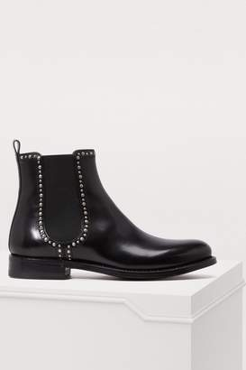Sartore Studded elastic ankle boots