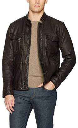 John Varvatos Men's Leather Field Jacket