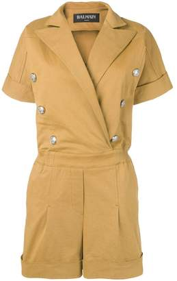 Balmain double breasted playsuit