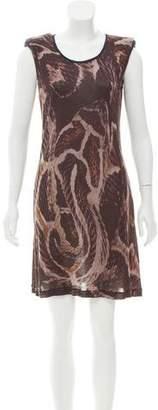 Lanvin Structured Printed Dress