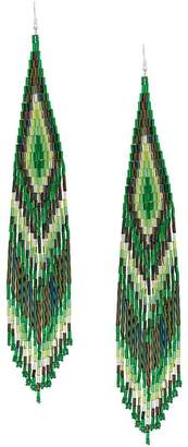 Jessie Western large beaded drop earrings