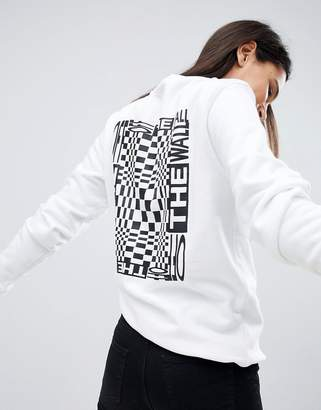 Vans (バンズ) - Vans Checkerboard Back Print Sweatshirt In White