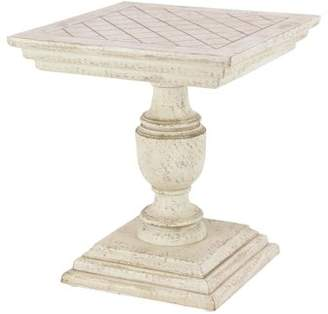 DecMode Decmode Traditional 24 X 22 Inch White Mango Wood End Table