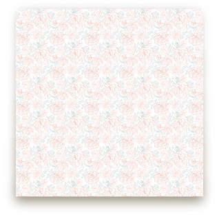 Delicate Cabbage Rose Fabric