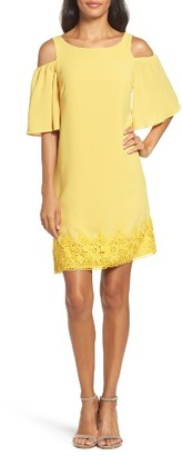 Women's Adrianna Papell Cold Shoulder Shift Dress $150 thestylecure.com