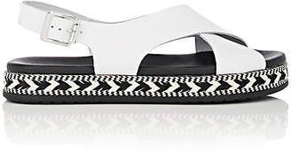 9e6abf67105 Barneys New York Women s Crisscross-Strap Leather Espadrille Sandals - White