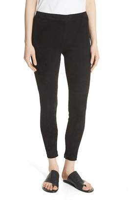 Vince Suede Ankle Zip Leggings