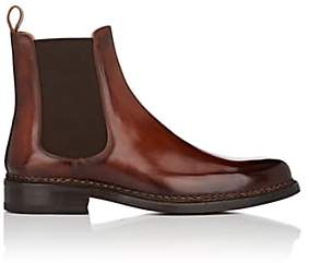Fratelli Giacometti GIACOMETTI MEN'S BURNISHED LEATHER CHELSEA BOOTS - LT. BROWN SIZE 11.5 M