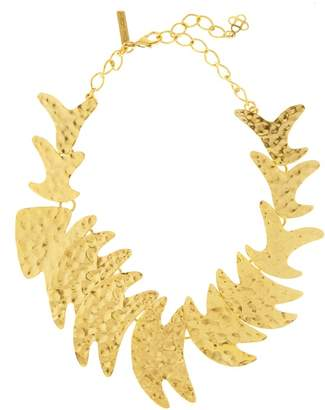 Oscar de la Renta Hammered Fish Necklace