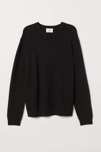 H&M - Cashmere-blend Sweater - Black
