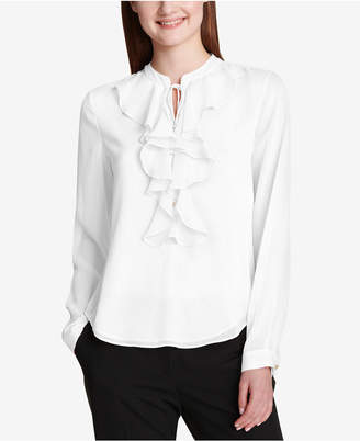 Tommy Hilfiger Ruffled Tie-Neck Blouse